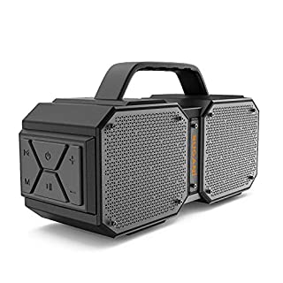 BUGANI Bluetooth Speaker, M83 Portable Bluetooth Speakers 5.0, 40W Super Power, Rich Woofer, Stereo Loud. Suitable for Family Gatherings and Outdoor Travel. (Black)