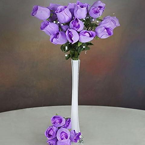HuiAiKe 84 Xl Velvet Rose Buds Long Stems Bushes Wedding Craft Party Flowers Whole
