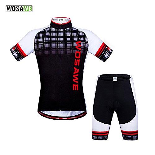 WOLFBIKE Men British Wind Cycling Jersey Shorts Suit, Size US M / CN XL