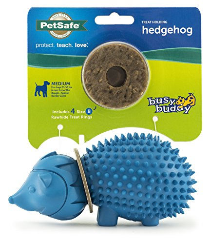 PetSafe Busy Buddy Treat Ring Holding Animal Toys, Durable Chew Toys for Dogs, Available in Small and Medium Sizes -