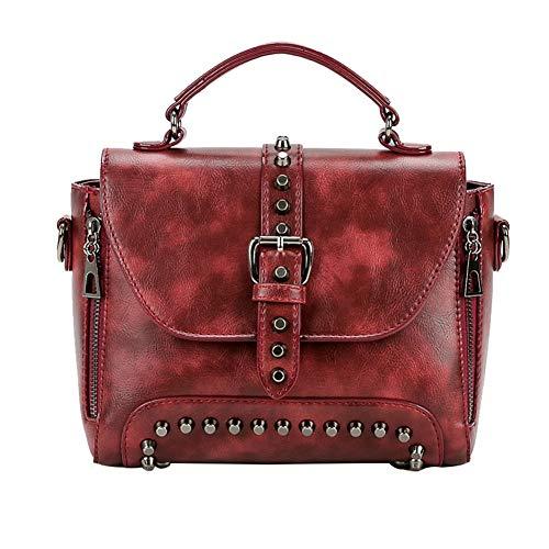 a rosso a Borse alla a spalla tracolla Borsa spalla pelle in moda verde tracolla Mini PU Borse vintage spalla con a a borse casual tracolla qIqg8