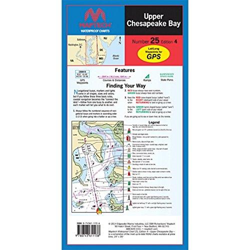 Maptech - Upper Chesapeake Bay Waterproof - Upper Bay Chesapeake