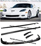 ZR1 Style Carbon Fiber Front Bumper Lower Lip Splitter With Side Skirts Rocker Panels For 05-13 Chevrolet Corvette C6 Z06 | Grand Sport | ZR1 05 06 07 08 09 10 11 12 13