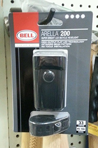 BELL ARELLA 200 SUPER BRIGHT LED BICYCLE HEADLIGHT WHITE