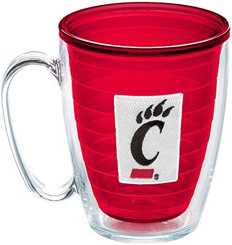 Tervis 1241048 Cincinnati Bearcats Logo Insulated Tumbler with Emblem, 16oz Mug, Red (Cincinnati Bearcats Bottle)