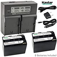 Kastar LCD Dual Fast Charger & 2 x Battery for Canon BP-945, BP945 and EOS C500, C300, EOS C100 Mark II, EOS C100, XF100, XF300, XF305, GL1, GL2, XH-A1, A1S, G1, G1S, XL-H1, H1A, H1S, XL1, XL1S, XL2