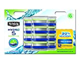 Schick Hydro 5 Sensitive Razor Blade Refills for Men with Flip...