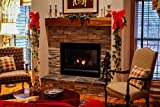 Home Comforts LAMINATED POSTER Living Room Christmas Mantel Xmas Fireplace Cozy Poster