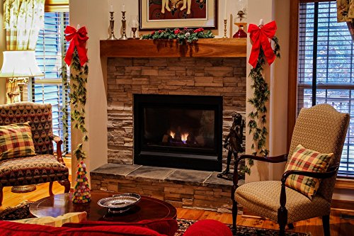 Home Comforts LAMINATED POSTER Living Room Christmas Mantel Xmas Fireplace Cozy Poster by Home Comforts