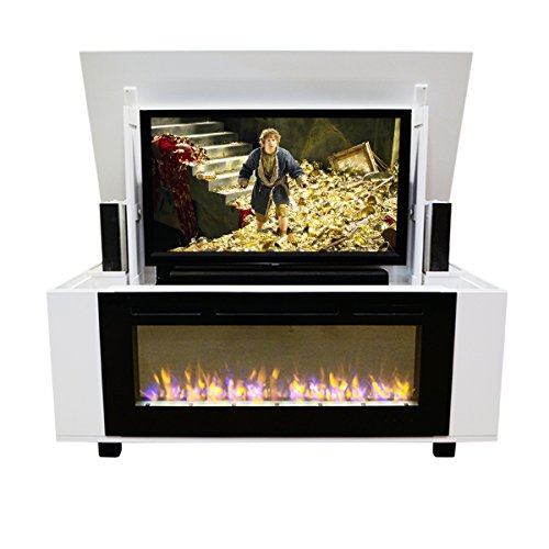 Pop Up TV Lift - Handcrafted Rockford Fireplace TV Lift Cabinet - ATL Low Profile System (50