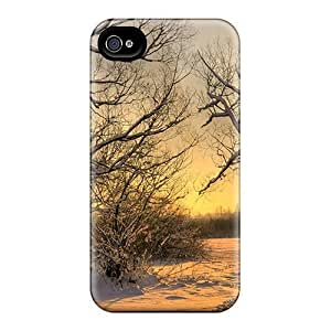 Tpu Fashionable Design Footsteps In The Snow Rugged Case Cover For Iphone 4/4s New