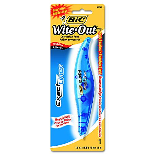 BIC White Out Correction Non Refillable WOELP11