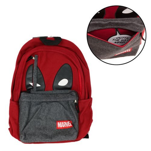 Bioworld Marvel Deadpool Hidden Quote Backpack