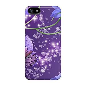 phone covers Durable Hard Cell-phone Cases For iPhone 6 4.7 (jcO18899hQUn) Allow Personal Design Lifelike Blue Bells On Purple Pattern