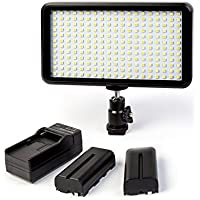 GIGALUMI W228 Video Light Ultra Thin Dimmable Photo Studio Camera Video Panel Light with Battery and Charger, LED Light for Canon Nikon DSLR Cameras/Camcorder