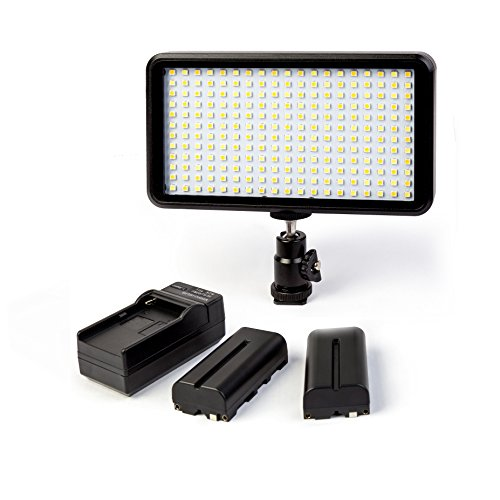 GIGALUMI W228 Video Light Ultra Thin Dimmable Photo Studio Camera Video Panel Light with Battery and Charger, LED Light for Canon Nikon DSLR Cameras/Camcorder from GIGALUMI