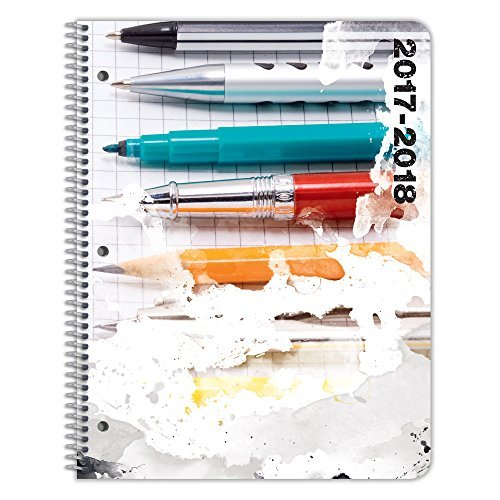 Student Planner for 2017 - 2018 School Year for Middle / High School - By School Datebooks (Book Assignment Student)