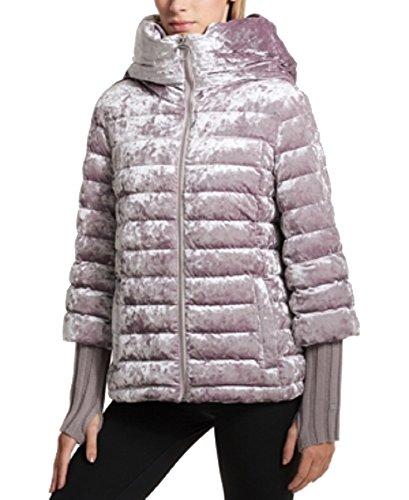 (DKNY Sport Crushed Velvet Down Jacket (Wren, XL))