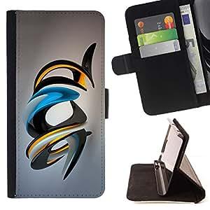 For Sony Xperia M4 Aqua Case , Brillante Arte Abstracto- la tarjeta de Crédito Slots PU Funda de cuero Monedero caso cubierta de piel
