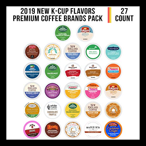 Keurig Flavored Coffee Variety Sampler Pack, 27 Count K Cup Variety Pack of New Premium Coffee Brands K-Cup Flavors for Keurig Brewers, 2.0 Keurig - Island Flavored Collection