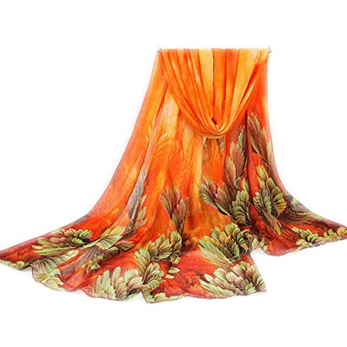 Slimerence Lightweight Flower Printing Shawl Scarf and Wrap, Vintage Pattern Beach Wrap For Vacation Casual