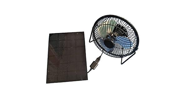 LEDMOMO Ventilador de escritorio con energía solar USB portátil ...