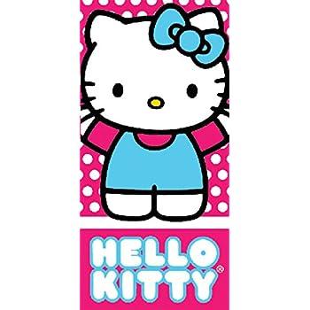 cac0dea0c Amazon.com: Pink and Blue Hello Kitty Girls Beach and Bath Towel ...