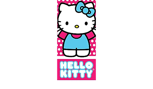Amazon.com: Pink and Blue Hello Kitty Girls Beach and Bath Towel: Home & Kitchen
