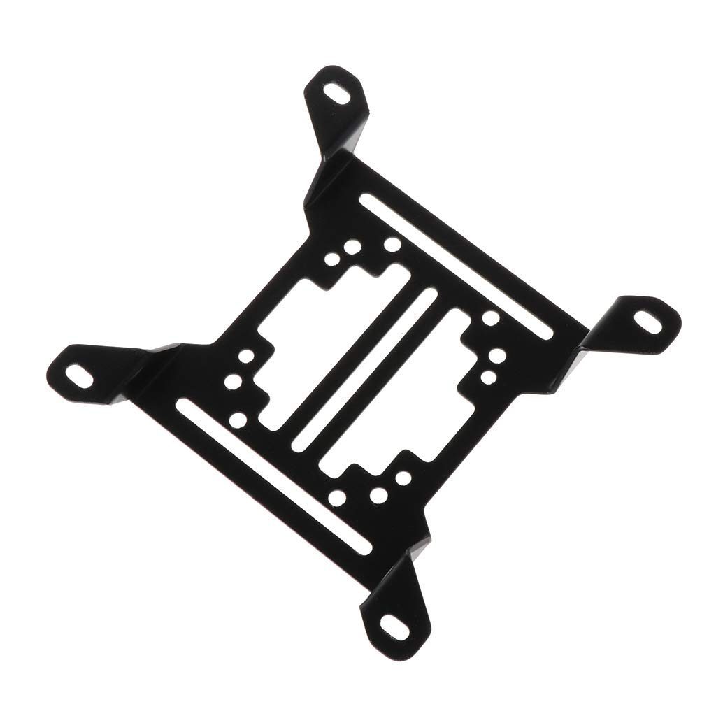 Dinfoger-Office 12CM Water Cooling Radiator Support Water Pump Drainage Tank Reservoir Mounting Bracket Stand PC Heatsink Fan Holder with Black