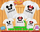 Disney family matching custom t-shirts, Family vacation disney shirts,Mickey Minnie mouse Personalized shirt, Personalized Disney Shirts for Family