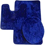 royal blue bathroom. naturally home Royal Plush Collection 3 Piece Bathroom Rug Set  Bath Mat Contour Amazon com Blue Accessory Sets Accessories
