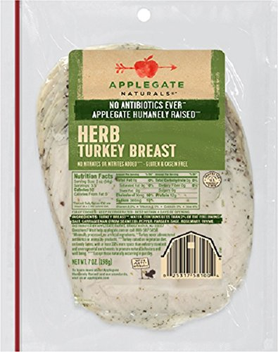 Applegate Farms Natural Herb Roasted Chicken Breast, 7 Ounce (Pack of 12)