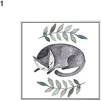 display08Cute Lazy Cat Piante Immagine Tela Pittura Poster da Parete Kids Room Decor Gift