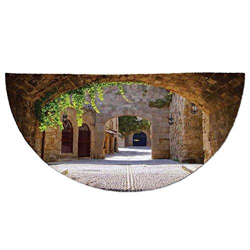 Cheap  Half Round Door Mat Entrance Rug Floor Mats,Tuscan,Ancient Italian Street in a..