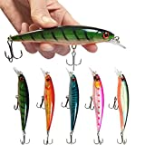Cheap Minnow Fishing Lures Crankbaits Set Fishing Hard Baits Life-like Swimbait Hard Fishing Topwater Lure Bass Bait For Trout Bass Perch Fishing (5PCS)