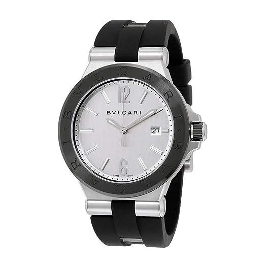 Bvlgari diagono plata Dial Automático Mens Reloj 102252: Amazon.es: Relojes