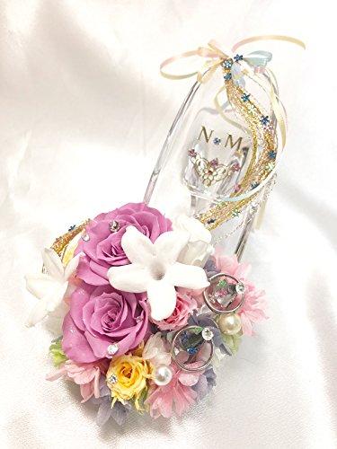 【プリザーブドフラワー/ガラスの靴リングピロー/ウェディング】ラプンツェルの金色の髪の魔法とプリンセスの自由と幸せ【リボンラッピング付き/送料無料】 B018XCPCDQ