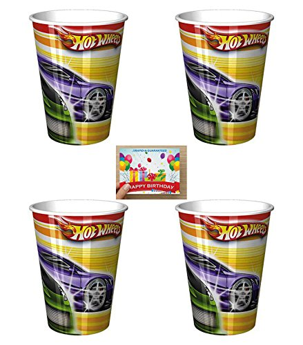 Hot Wheels Treat (Hot Wheels Plastic Reusable 16 Ounce Cups Pack of)