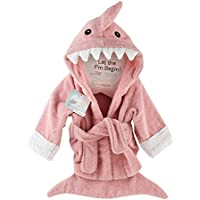 Baby Aspen Let the Fin Begin Shark Robe (Pink / 0-9 Months)