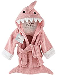 Let the Fin Begin Shark Robe, Pink, 0-9 Months