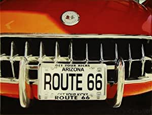 Lienzo Ruta 66Corvette rojo 46x 61bastidor pared de