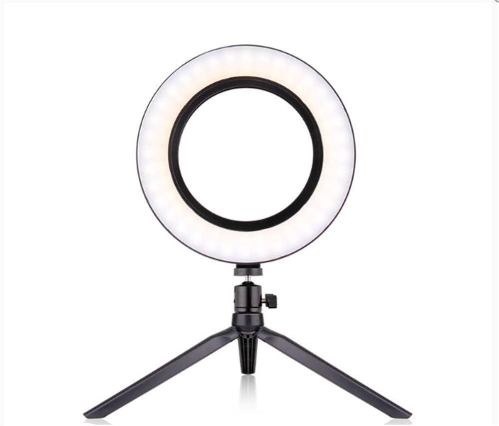 Compact Lightweight Desktop Small Mobile Phone Tripod Beauty Ring Light 20cm Dual Camera