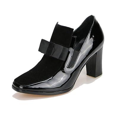 Carré Pour Femme Cuir Véritable Chaussures Escarpins En Femmes Talon AjL345R