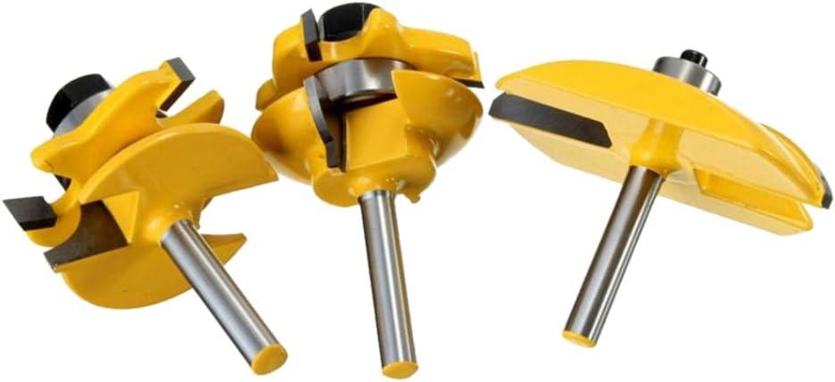 Schaftschlitzschneider Einstellbarer Fr/äser f/ür Holzbearbeitungswerkzeug 5-Blatt 8mm Griff f/ür Holzschneidemaschine Zapfenschneidemaschine