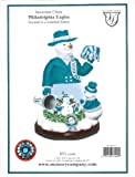 "Philadelphia Eagles Limited Edition Memory Company ""Snowman Cheer"" Snowglobe Christmas Figurine"