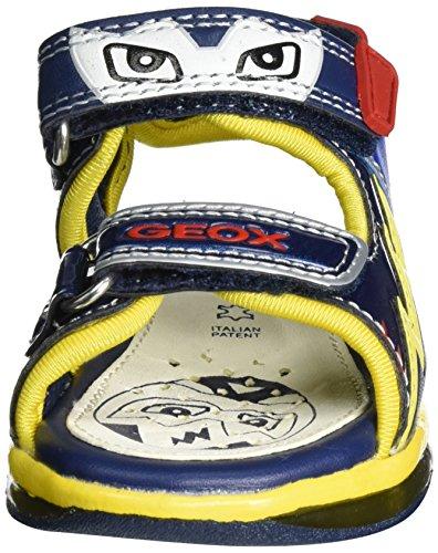 Geox B Sandal Todo Boy A - Botines de Senderismo Bebé-Niñas Azul (NAVY/YELLOWC0657)