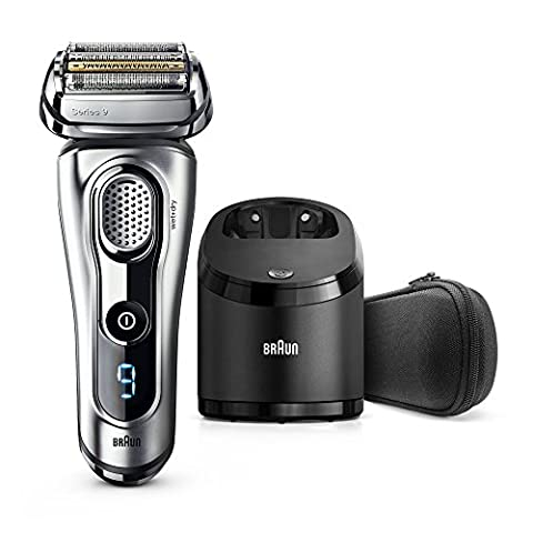 Braun Series 9 9290CC Wet & Dry Electric Shaver for Men with Clean & Charge System, Premium Silver Cordless Razor, Razors, Shavers, Pop up Trimmer, Travel - Specialized Electronics