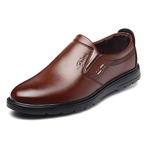 Huatime Cuero Zapatos Mocasines Hombre - Hombres Derby Business Oxford Conducción Calzado Oficina Smart Trabajo Informal Formal Boda Verano Cómodos Clásico: ...