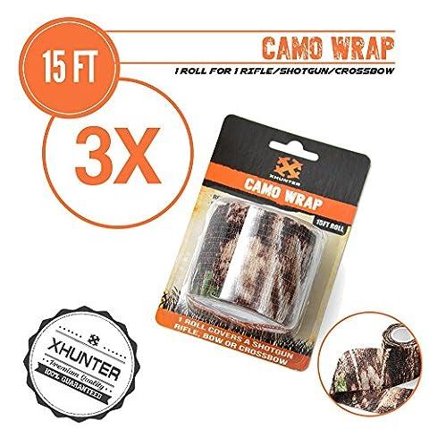 Xhunter 3x Camo Wrap Tape Shotgun Rifle Bow Crossbow Protective 15FT ConsealRoll - Bow Tape