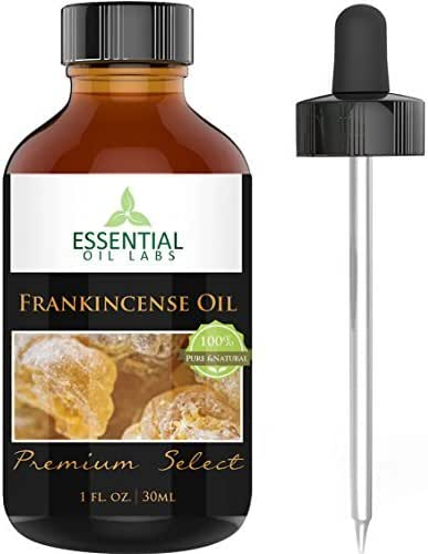 Frankincense Essential Oil - Highest Quality Therapeutic Grade Backed by Research - 1 oz Bottle with Glass Dropper - 100% Pure and Natural Premium Select by Essential Oil Labs